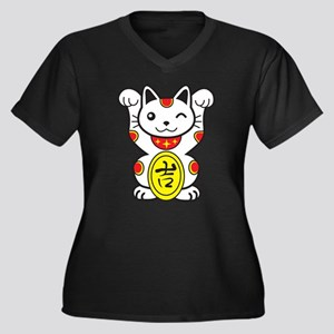 Lucky Cat Plus Size T-Shirt