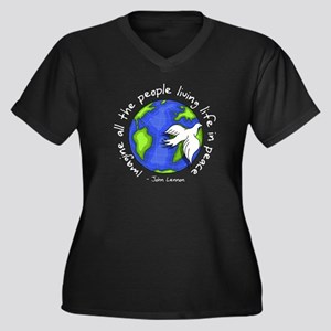 Imagine - World - Live in Peace Women's Plus Size