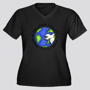 Imagine - World - Live in Peace Plus Size T-Shirt