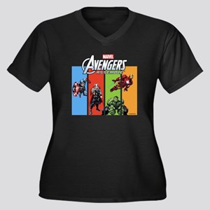 Avengers Women's Plus Size V-Neck Dark T-Shirt