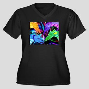 726e5090 Purple Dragon Women's Plus Size T-Shirts - CafePress