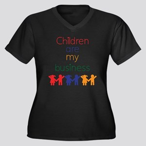 Children-are Women's Plus Size Dark V-Neck T-Shirt