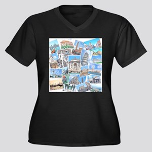 Italy Collage Plus Size T-Shirt