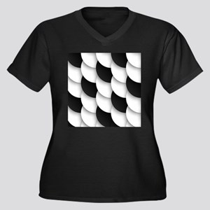 Black and White Abstract Plus Size T-Shirt
