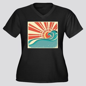 wave at dawn Plus Size T-Shirt