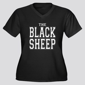 The Black Sheep Women's Plus Size V-Neck Dark T-Sh