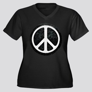Original Vintage Peace Sign Women's Plus Size V-Ne