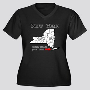 NY More Than Just This Women's Plus Size V-Neck Da