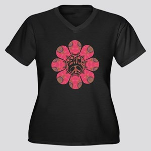 Peace Flower - Affection Women's Plus Size V-Neck