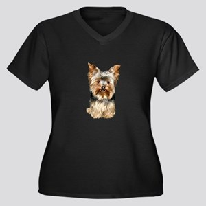 Yorkshire Terrier (#17) Women's Plus Size V-Neck D