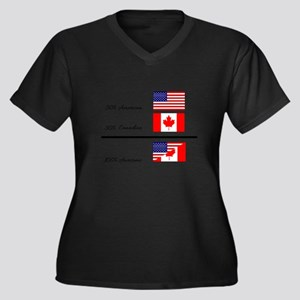 Half Canadian Half American comp Plus Size T-Shirt