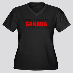 'Girl From Canada' Plus Size T-Shirt