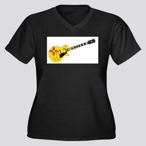 New Mexico State Flag Guitar Plus Size T-Shirt