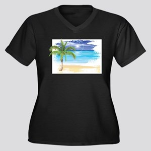 Beach Scene Plus Size T-Shirt