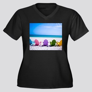 Lounge Chairs On Beach Plus Size T-Shirt