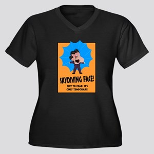 0329fff0e Funny Skydiving Women's Plus Size T-Shirts - CafePress