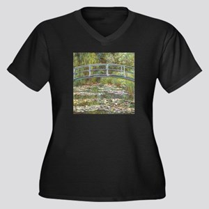 Monet Bridge over Water Lilies Plus Size T-Shirt