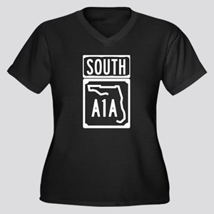 A1A South Florida Beachfront Ave Plus Size T-Shirt