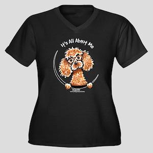 Apricot Poodle IAAM Women's Plus Size V-Neck Dark