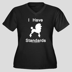 Poodle - I H Women's Plus Size V-Neck Dark T-Shirt