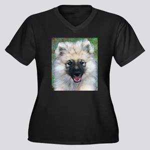 Keeshond Puppy Plus Size T-Shirt
