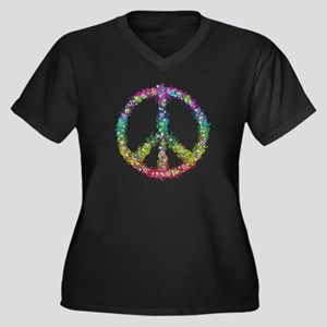 Peace of Flowers Plus Size T-Shirt