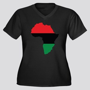 Red, Black and Green Africa Flag Plus Size T-Shirt