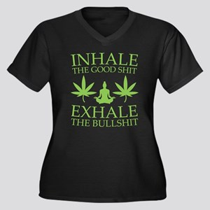 Yoga: Inhale the good shit Plus Size T-Shirt