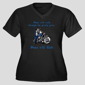 Some will wa Women's Plus Size Dark V-Neck T-Shirt