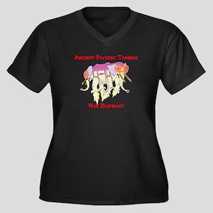 Ancient Psychic Tandem War Elephant Plus Size T-Sh