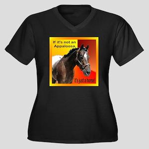 If Not Appaloosa-1 Women's Plus Size V-Neck Dark T