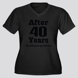 40th Anniversary Funny Quote Plus Size T-Shirt