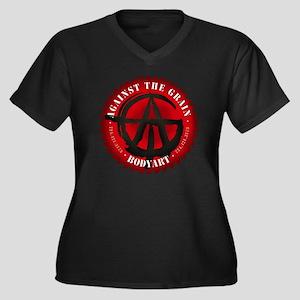 ATG logo Women's Plus Size Dark V-Neck T-Shirt