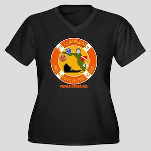 LARGE LOGO c Women's Plus Size Dark V-Neck T-Shirt