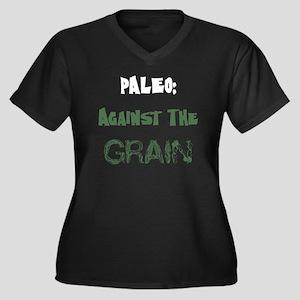 Paleo Dark Women's Plus Size Dark V-Neck T-Shirt
