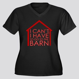 To The Barn Women's Plus Size Dark V-Neck T-Shirt
