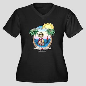 DoodleHeadz Logo Women's Plus Size V-Neck Dark T-S