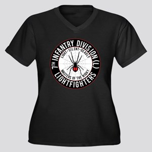 2012 Black W Women's Plus Size Dark V-Neck T-Shirt