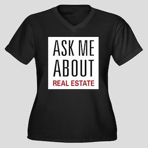 Ask Me Real Estate Plus Size T-Shirt
