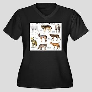 Wolves of th Women's Plus Size V-Neck Dark T-Shirt