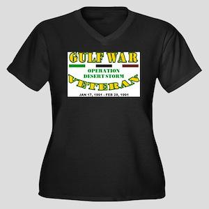 GULF WAR VETERAN OPERATION DESER Plus Size T-Shirt