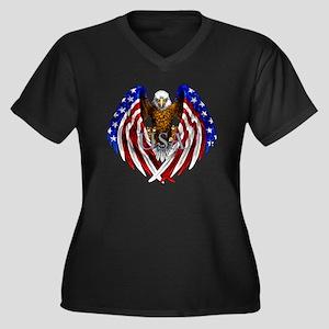 eagle2 Women's Plus Size Dark V-Neck T-Shirt