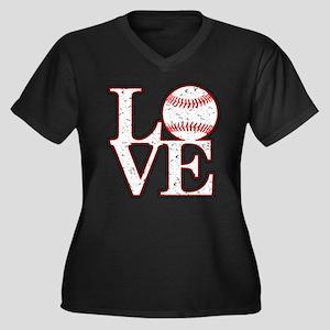 Love Baseball Classic Plus Size T-Shirt