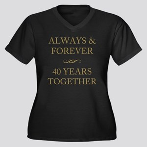 40 Years Tog Women's Plus Size V-Neck Dark T-Shirt