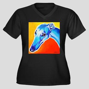 Greyhound #5 Women's Plus Size V-Neck Dark T-Shirt