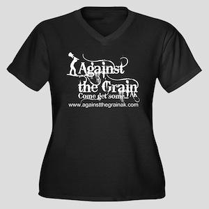 Against the Grain AK's Women's Plus Size V-Neck Da