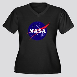 NASA Meatbal Women's Plus Size V-Neck Dark T-Shirt