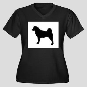 akita silhouette Plus Size T-Shirt