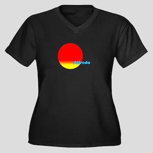 Alfredo Women's Plus Size V-Neck Dark T-Shirt