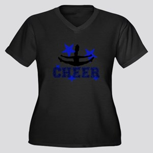 Blue Cheerleader Plus Size T-Shirt